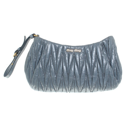 Miu Miu clutch in blu fumo