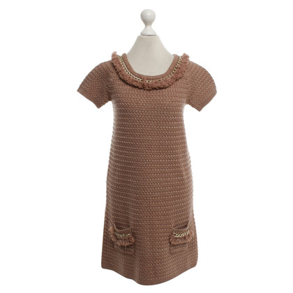 Elisabetta Franchi Knit dress in brown / gold