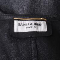 Saint Laurent Lederkleid in Schwarz