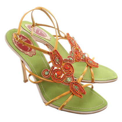 René Caovilla Sandals with jewelery application