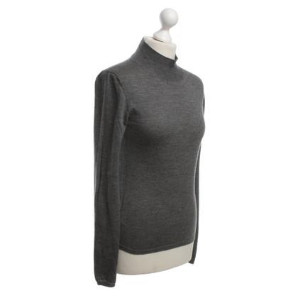 Miu Miu Fine-knit sweater in gray