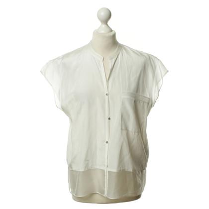 Helmut Lang Witte blouse met zijde trim