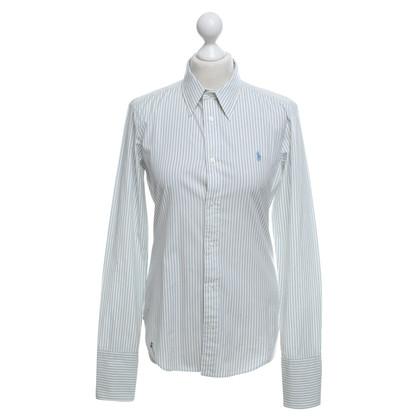 Ralph Lauren Bluse in Weiß/Blau