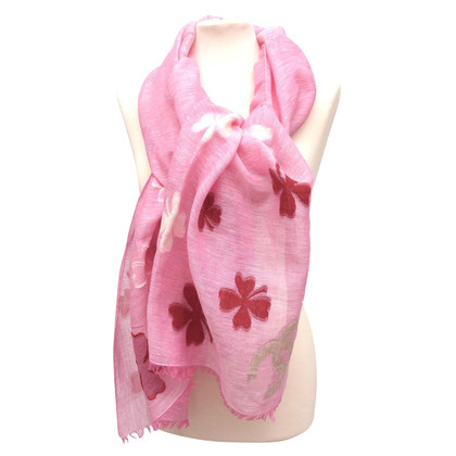 Chanel Linen scarf with woven motifs