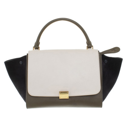 "Céline ""Trapeze Bag"" in Tricolor"
