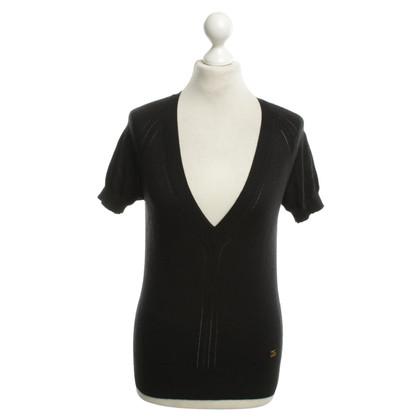 D&G Kurzarmpullover in zwart