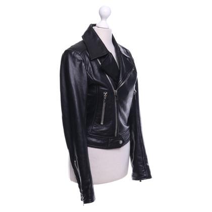 Balenciaga Giacca di pelle nera