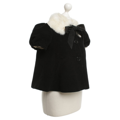 Jean Paul Gaultier Jacket rabbit fur collar