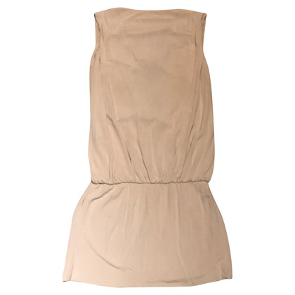 Patrizia Pepe Beige dress with gold chain on the back