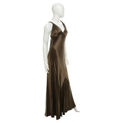 Ralph Lauren zijden jurk in Olive