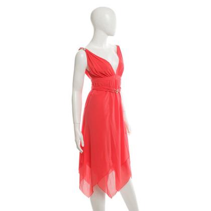 Emilio Pucci zijden jurk in koraalrood