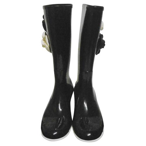 Chanel Bottes en Noir - Acheter Chanel Bottes en Noir d occasion ... 373efdfc1bf