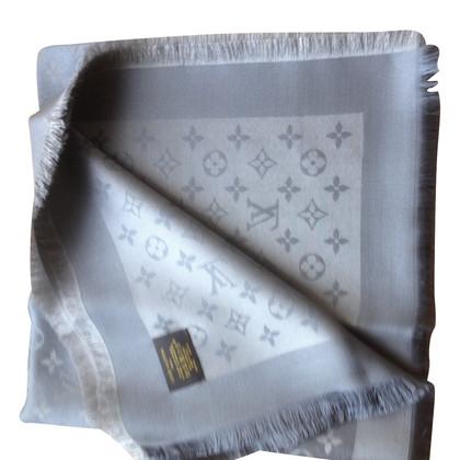 Louis Vuitton Monogram glansdoek in Grijs / Zilver