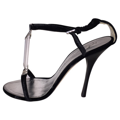 Giuseppe Zanotti Black velvet heels