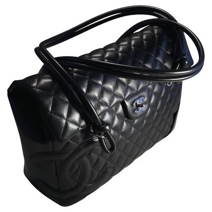Chanel borsa in pelle nera