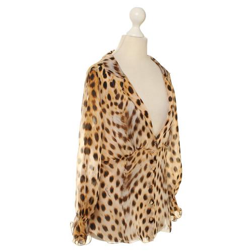 72aa0814337d4 Roberto Cavalli Animal-print silk blouse - Second Hand Roberto ...