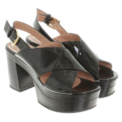 L'autre Chose Sandals in black