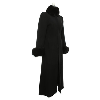Other Designer Gai Mattiolo - coat with fur collar