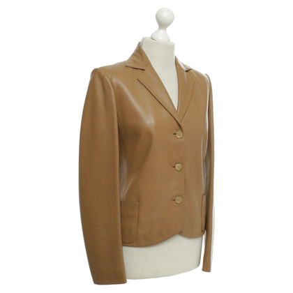 Loewe Leather blazer in beige