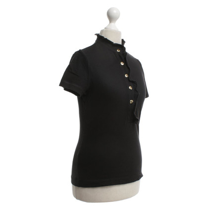 Tory Burch top in black with frills
