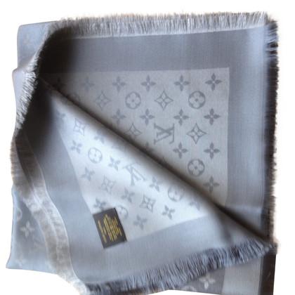 Louis Vuitton Scialle Monogram Grigio Silver Shine