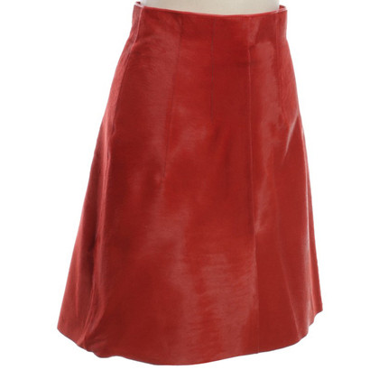 Dorothee Schumacher Cow fur skirt in Orange