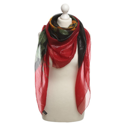 Ferre scarf silk red black yellow