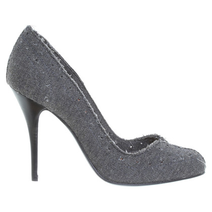 Lanvin Textile Pumps in grey