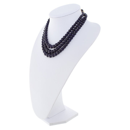 Christian Dior Jewelry pearl necklace in dark blue