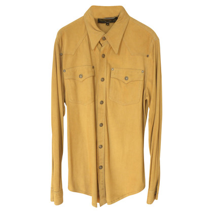 Roberto Cavalli Suede blouse