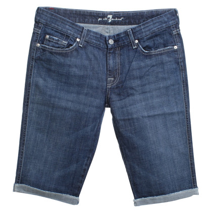 7 For All Mankind Short Jeans in Blauw