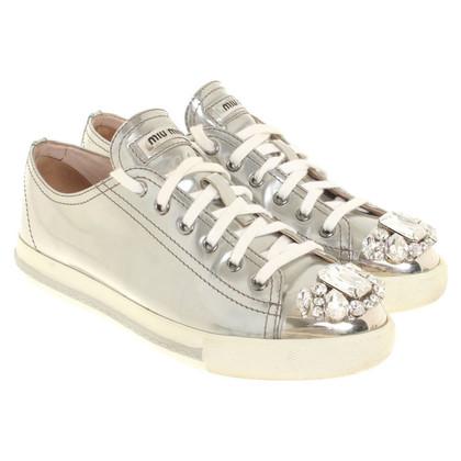 Miu Miu Sneaker met edelstenen