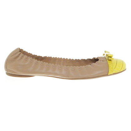 Tory Burch Ballerinas with yellow cap