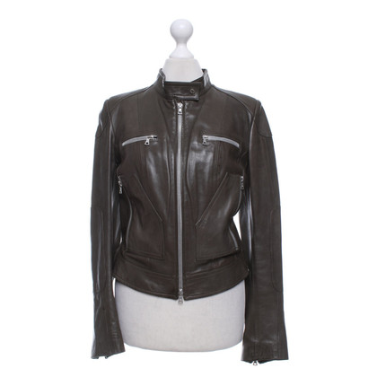 Vent Couvert Leather jacket in olive green