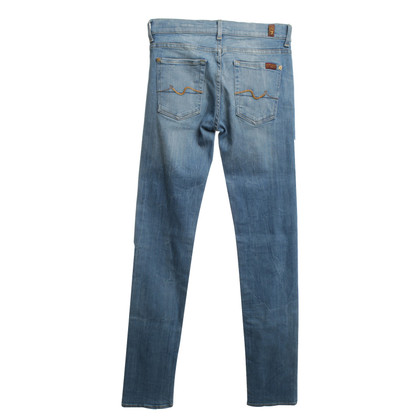 7 For All Mankind  Stonewashed Jeans in Blau