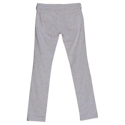 Isabel Marant Etoile Jeans bianco impreziosito