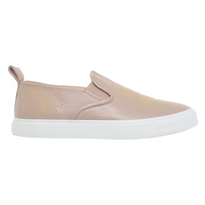Chloé Old pink leather slipper