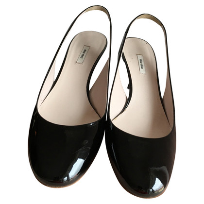 Miu Miu Peep-toes in patent leather