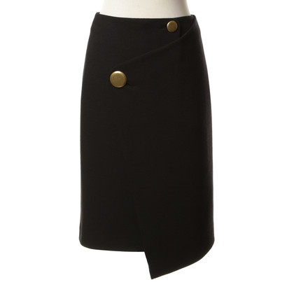 Balenciaga MIDI wrap skirt wool