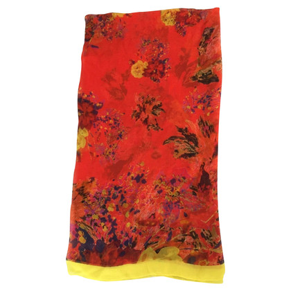Erdem Silk scarf with floral pattern