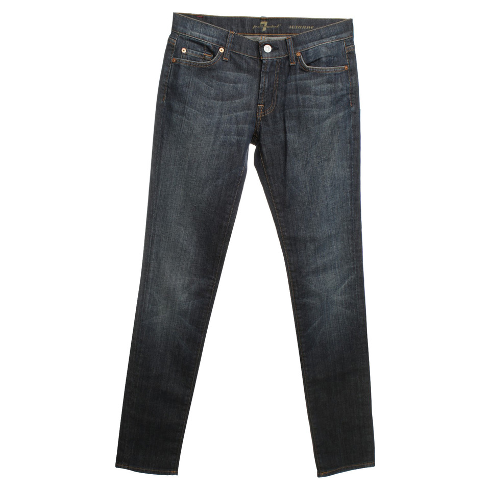 "7 For All Mankind Jeans ""Roxanne"" in dark blue"