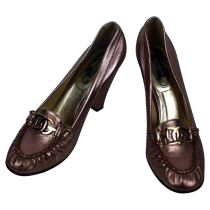 Dolce & Gabbana pumps in metallic-look