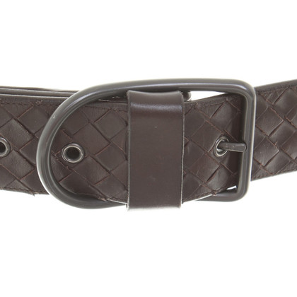 Bottega Veneta Cintura in pelle a Brown