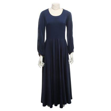 Lanvin Robe bleue en longueur maxi
