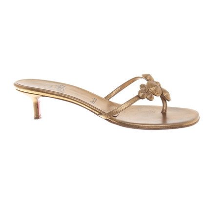 Christian Louboutin sandali color oro