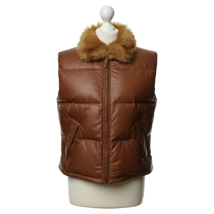 Ralph Lauren Leather vest with down