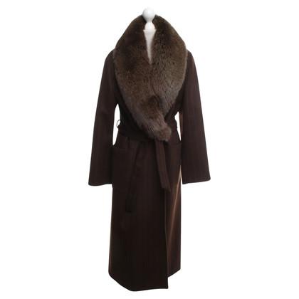 Max Mara Coat with fur trim