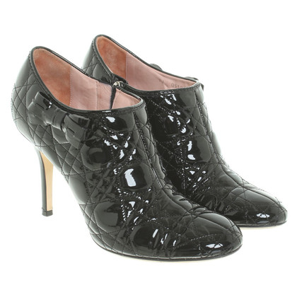Christian Dior Patent leather ankle boots in black