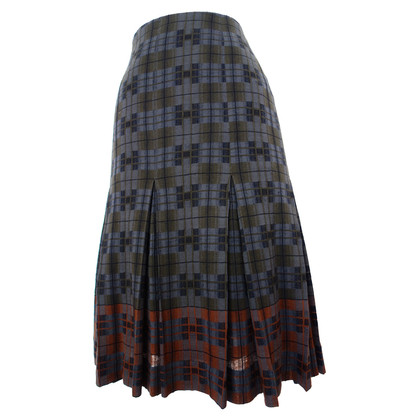 Hermès Pleated fold skirt