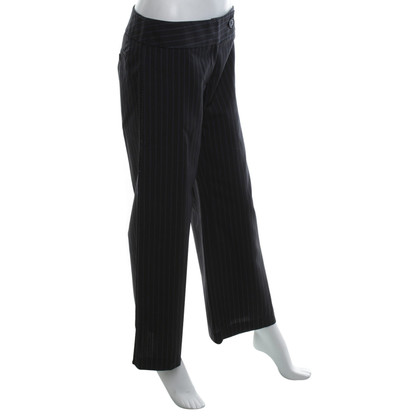 Karen Millen trousers in dark gray / blue / white
